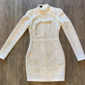 Bebe Studded Quilt Dress